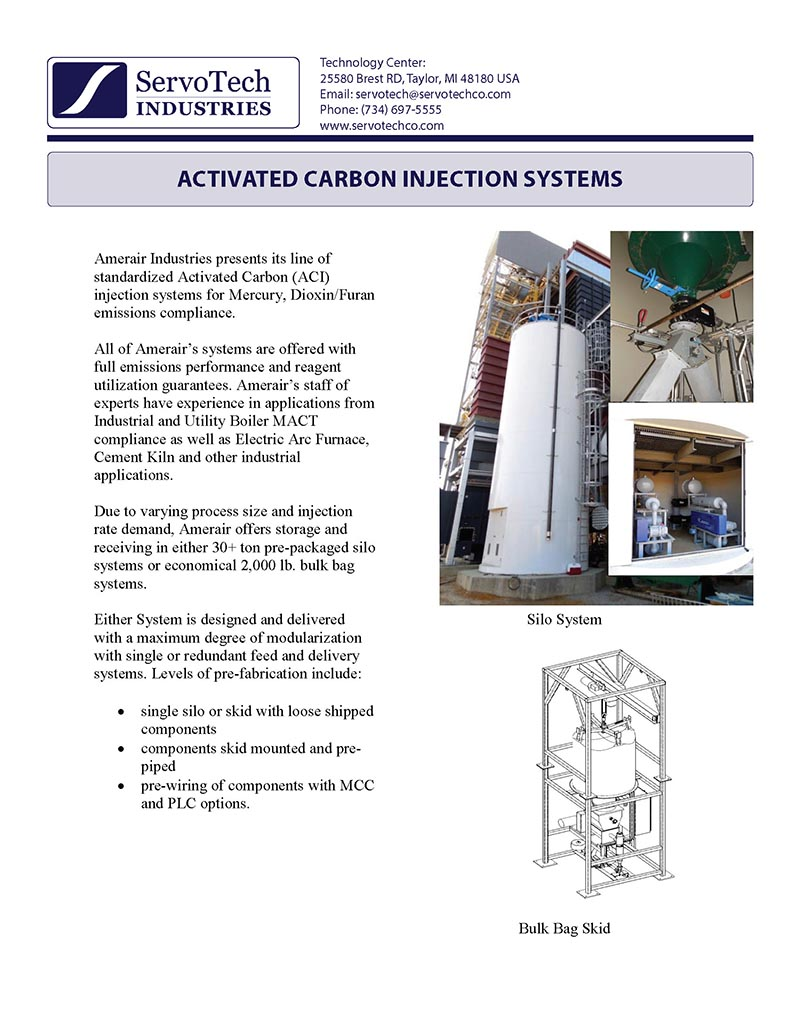 Activated Carbon Injection Systems