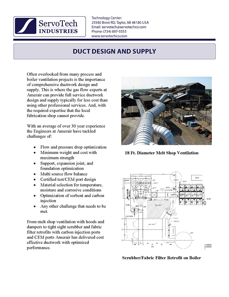 Duct Design and Supply