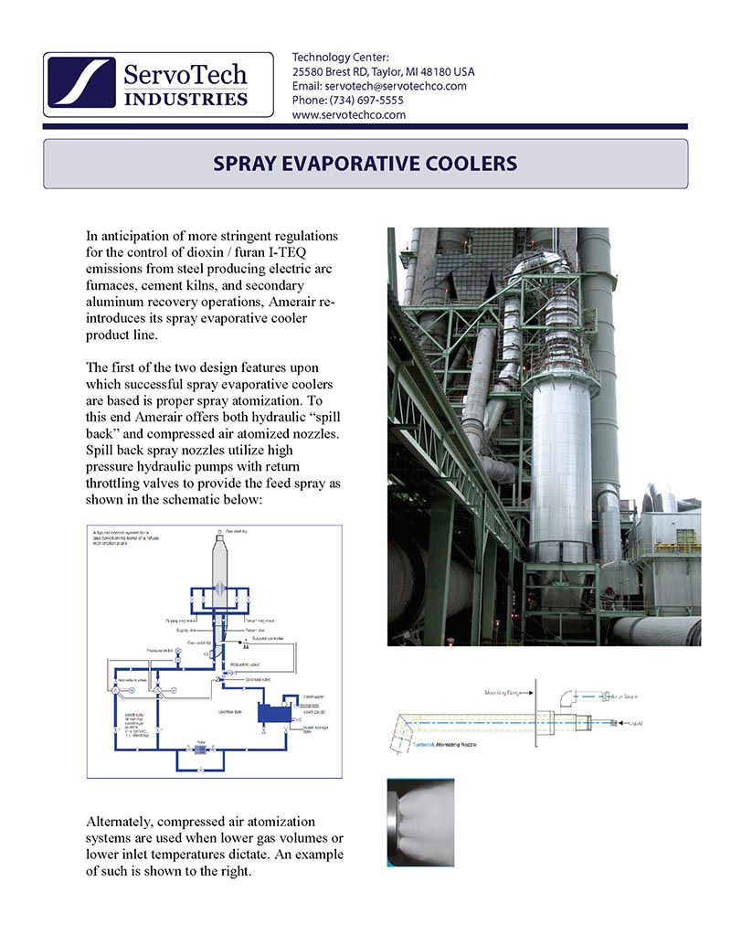 Spray Evaporative Coolers