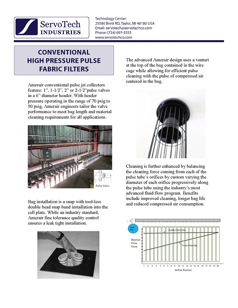 Conventional HPP Fabric Filters
